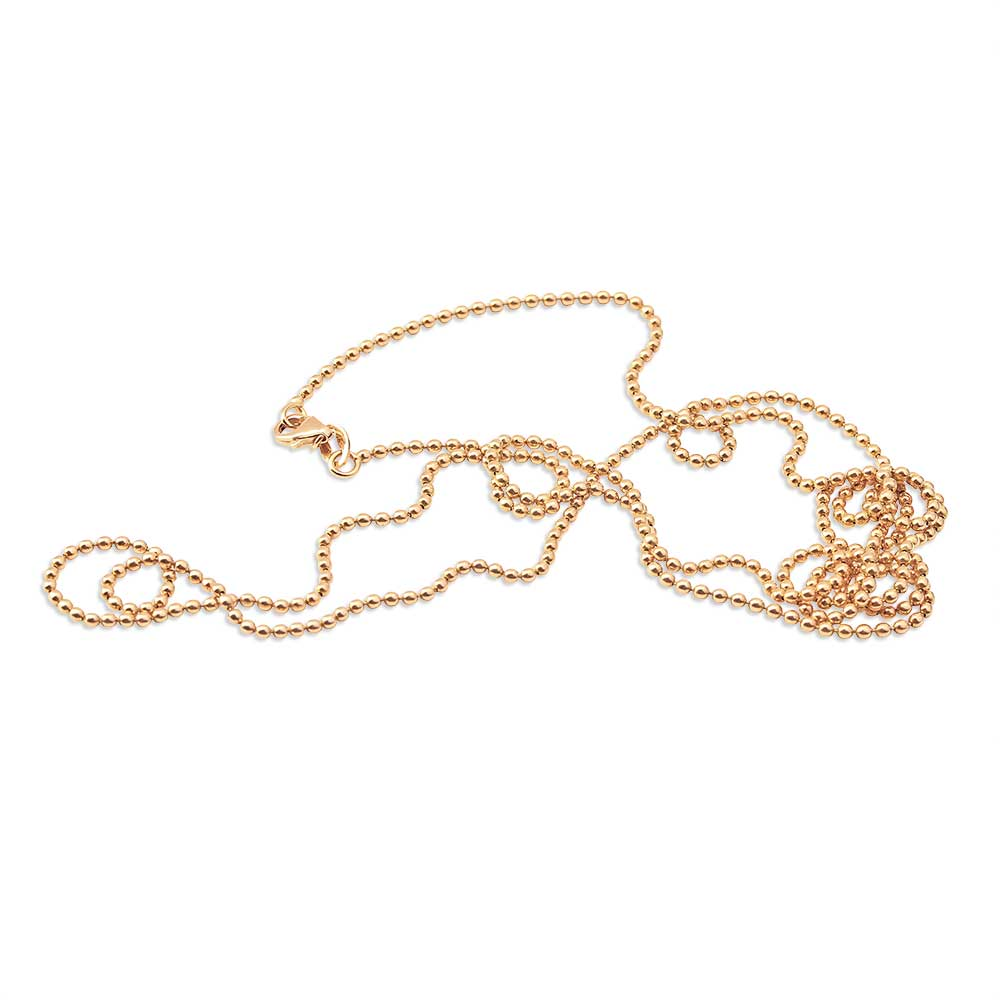 14K GOLD BALL CHAIN