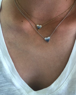 Blue Ombre Heart Necklace