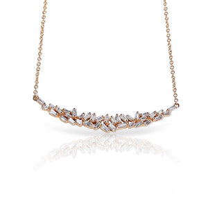 BAGUETTE DIAMOND CHAOS NECKLACE