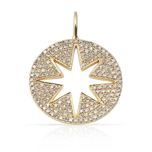 DIAMOND INSIDE OUT STAR CHARM
