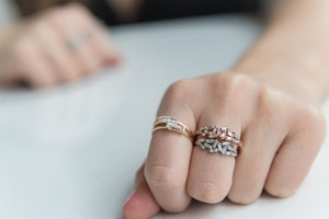 DIAMOND BAGUETTE HALF CHAOS RING