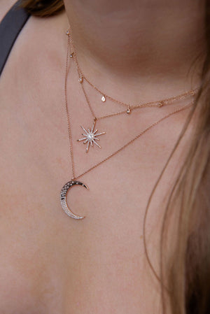 IN STOCK - PEAR DROP DIAMOND CHOKER