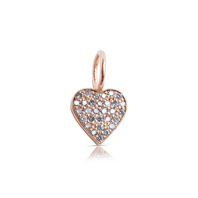 Mini Diamond Heart Charm