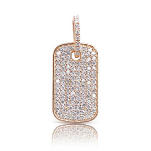 PAVÉ DIAMOND DOG TAG