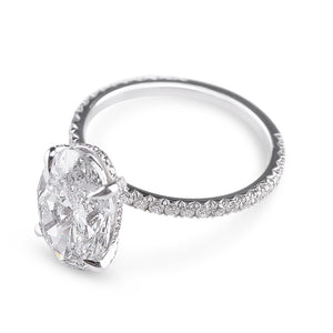 OVAL CUT DIAMOND WITH MICRO-PAVÉ BAND AND DIAMOND SET GALLERY