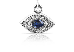 Diamond and Sapphire Evil Eye Charm