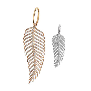 LARGE PALM LEAF DIAMOND CHARM