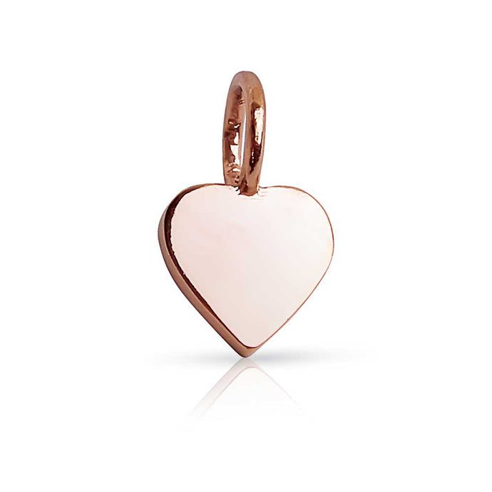 Mini Solid Gold Heart Charm