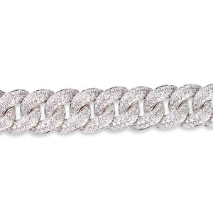 LARGE PAVÉ DIAMOND CHAIN LINK BRACELET