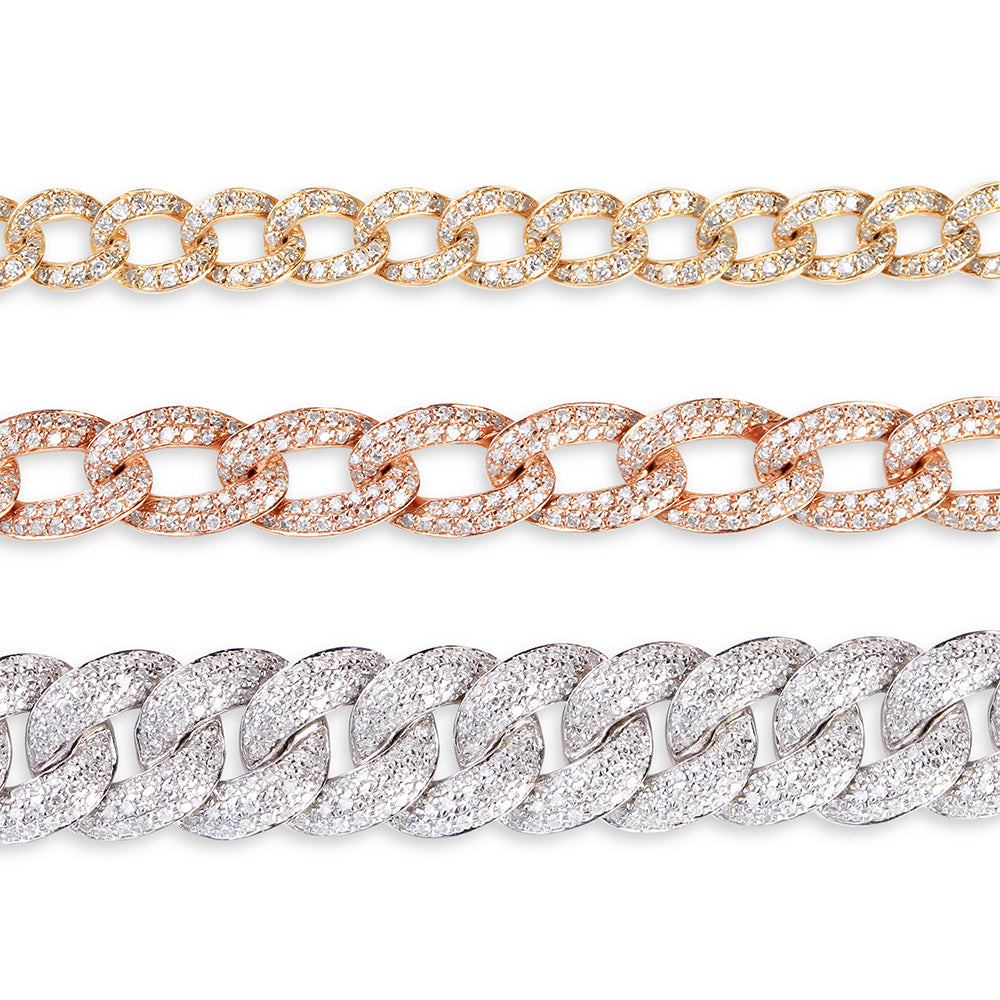 LARGE DIAMOND CHAINLINK BRACELET