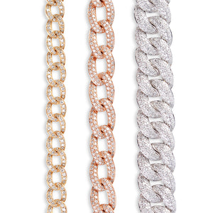DIAMOND CHAIN LINK BRACELET COMPARISON (SMALL, MED, LARGE)