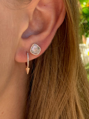 Diamond Spike Huggie Earring