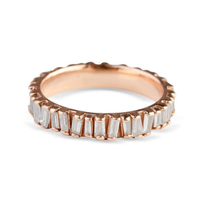 BAGUETTE DIAMOND PICKET ETERNITY RING