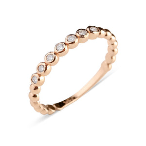 DIAMOND BEAD STACKING RING