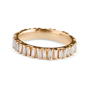 14K GOLD ROSE GOLD BAGUETTE DIAMOND ETERNITY RING