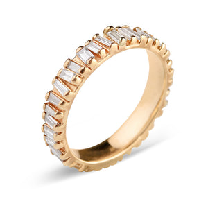 14K YELLOW GOLD BAGUETTE DIAMOND ETERNITY RING