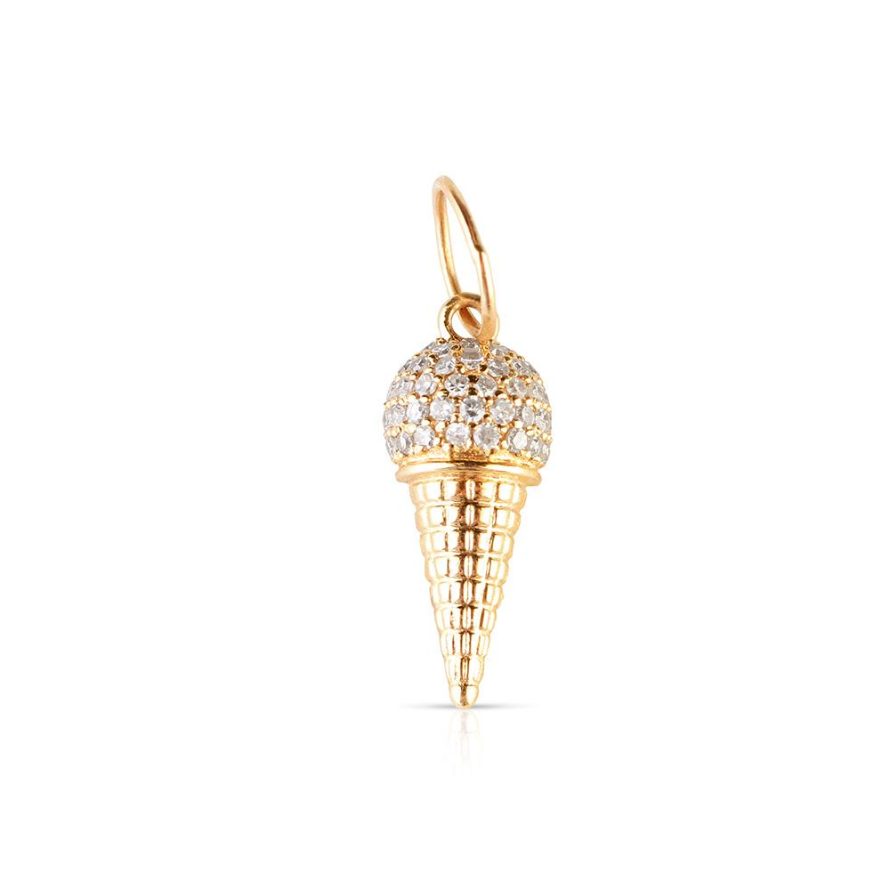 MINI DIAMOND ICE CREAM CONE CHARM