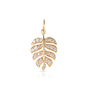 IN STOCK- SMALL DIAMOND MONSTERA LEAF CHARM