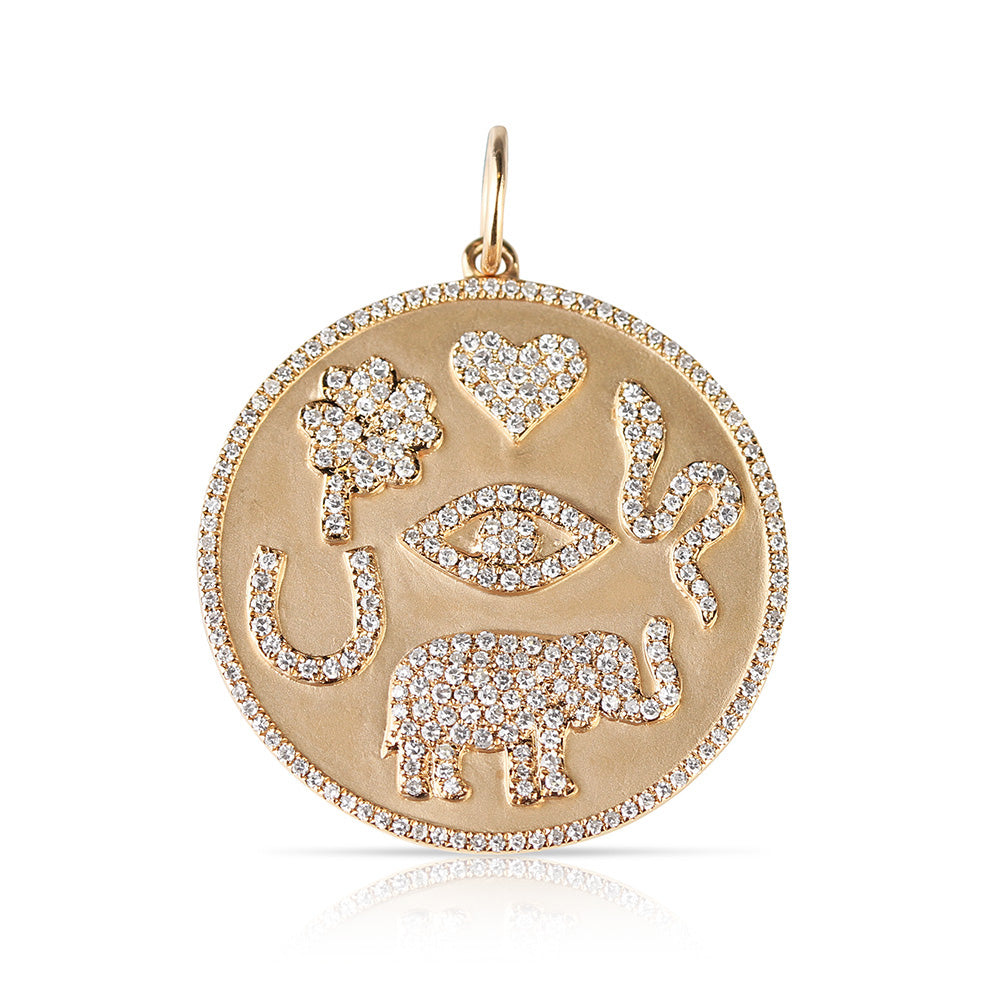 DIAMOND AND GOLD LUCKY TALISMAN
