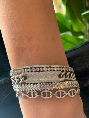 WHITE GOLD DIAMOND BRACELET STACK