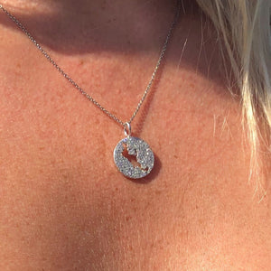 DIAMOND PAVÉ MUSKOKA LAKES NECKLACE CHARM