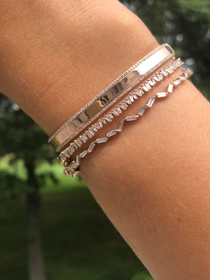 DIAMOND NAMEPLATE BANGLE