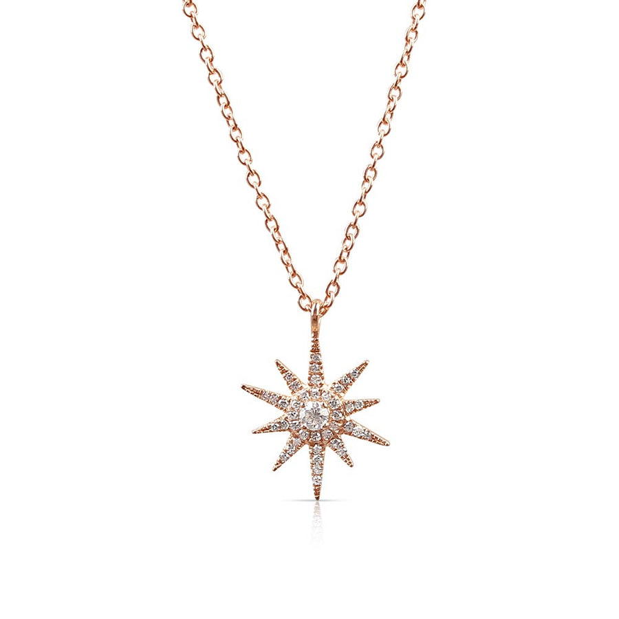 IN STOCK - ROSE GOLD MINI SUNBURST NECKLACE