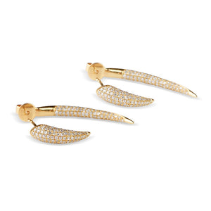 Luxurious Diamond Horn Earrings