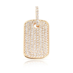 LARGE PAVÉ DIAMOND DOG TAG