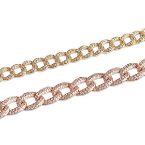 SMALL VS MEDIUM DIAMOND CHAINLINK BRACELET