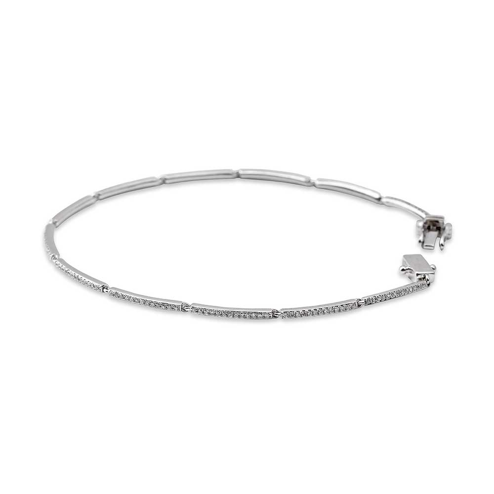 LINKED PAVÉ DIAMOND TENNIS BRACELET
