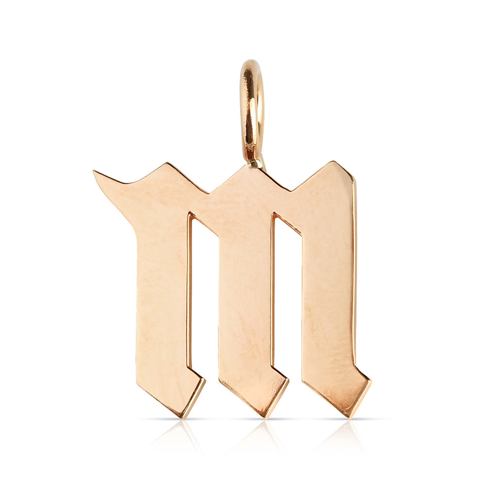 14K GOLD GOTHIC LETTER CHARMS