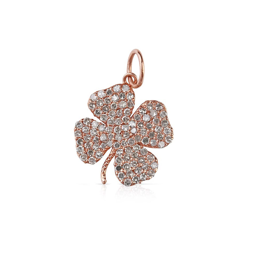 Mini Diamond Clover Charm