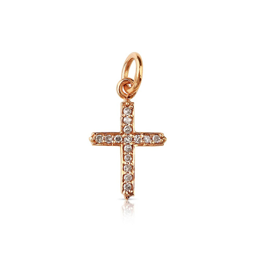 Mini diamond cross charm