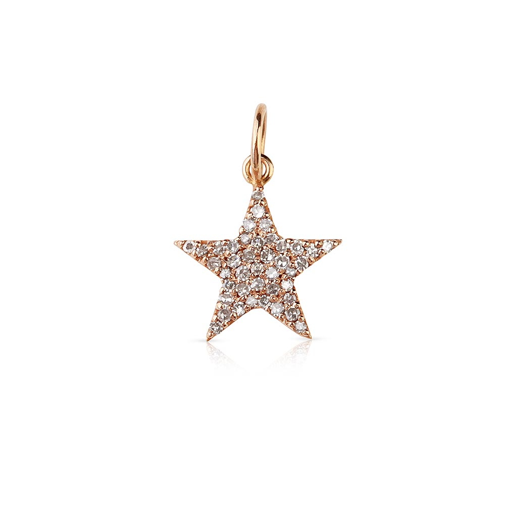 Pave Diamond Star Charm