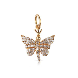 mini diamond butterfly charm