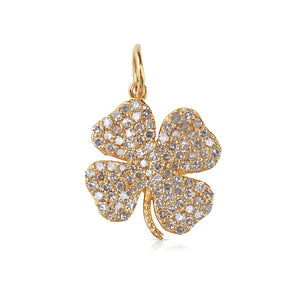 Mini Clover Charm with Diamonds