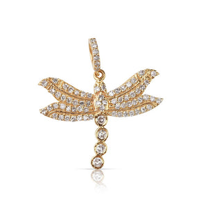 Mini Diamond Dragon Fly Charm
