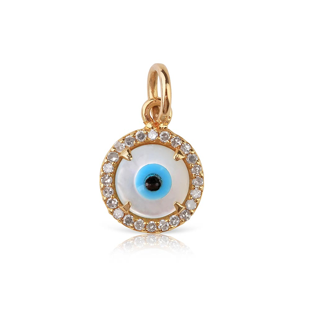 Mini Evil Eye Charm with Diamonds
