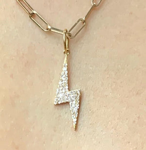 DIAMOND LIGHTNING BOLT CHARM