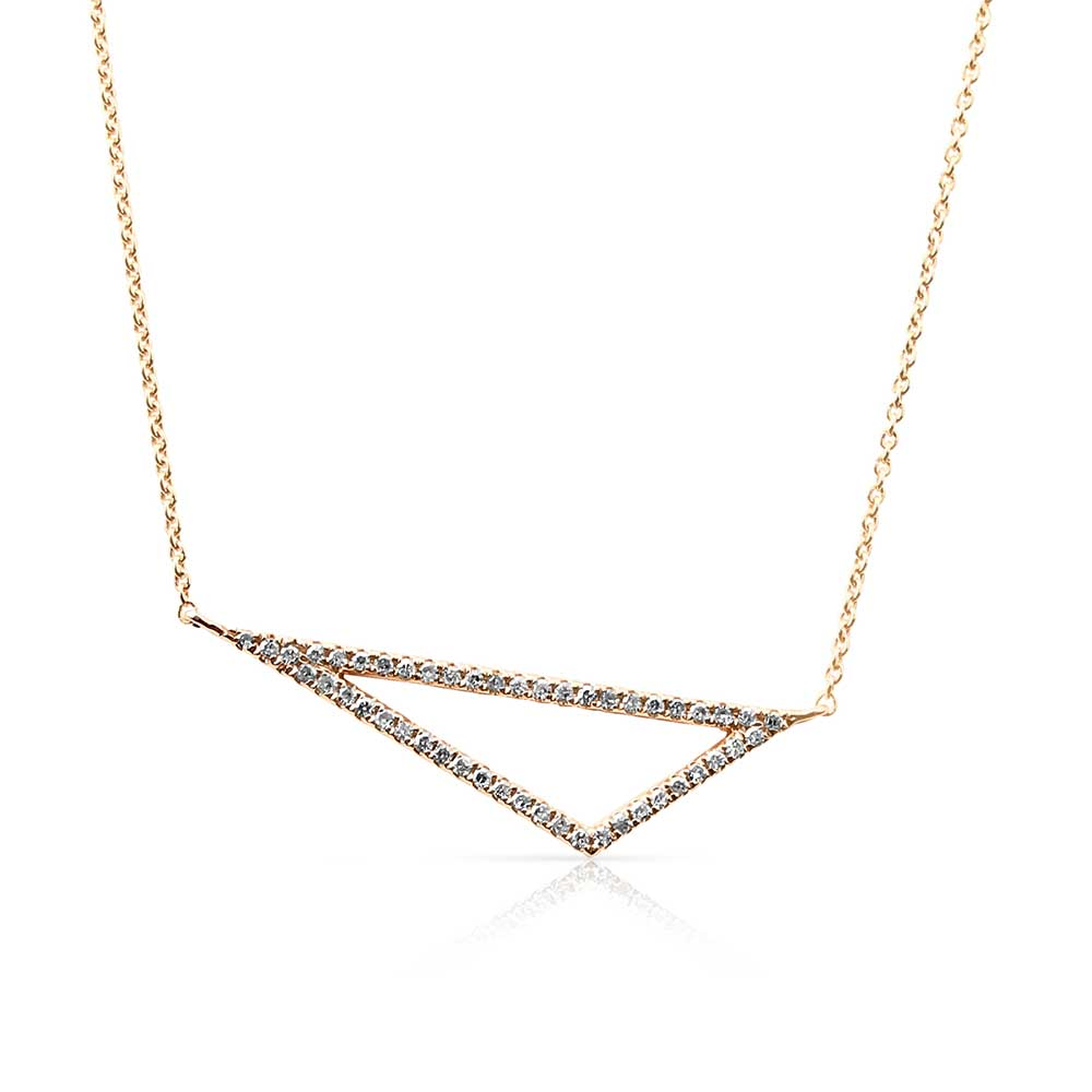 DIAMOND OFFSET TRIANGLE NECKLACE