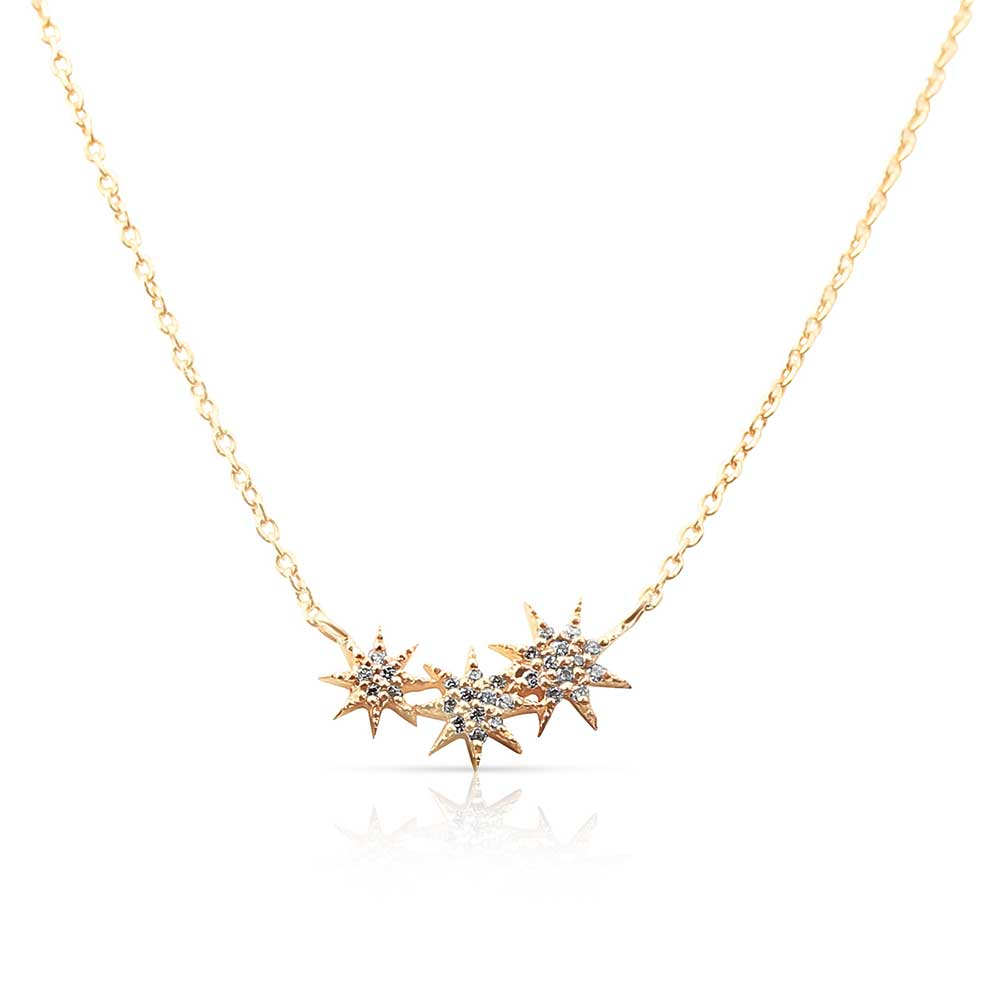 TRIPLE STAR CLIMBER NECKLACE