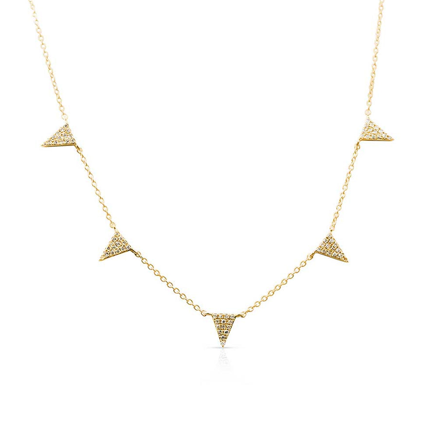 DIAMOND FIVE TRIANGLE CHOKER