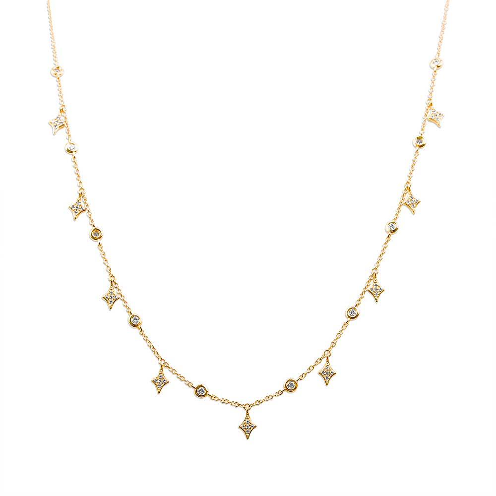 Celestial Boho Choker with Diamonds