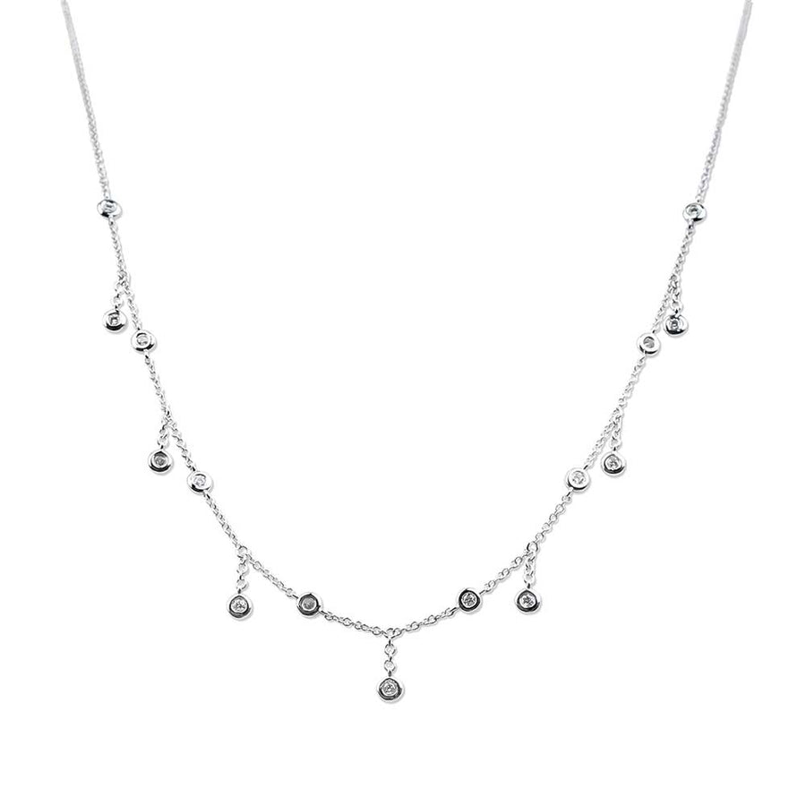 DIAMOND RAIN DROP CHOKER