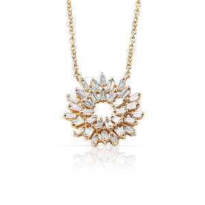 14K GOLD BAGUETTE DIAMOND NECKLACE