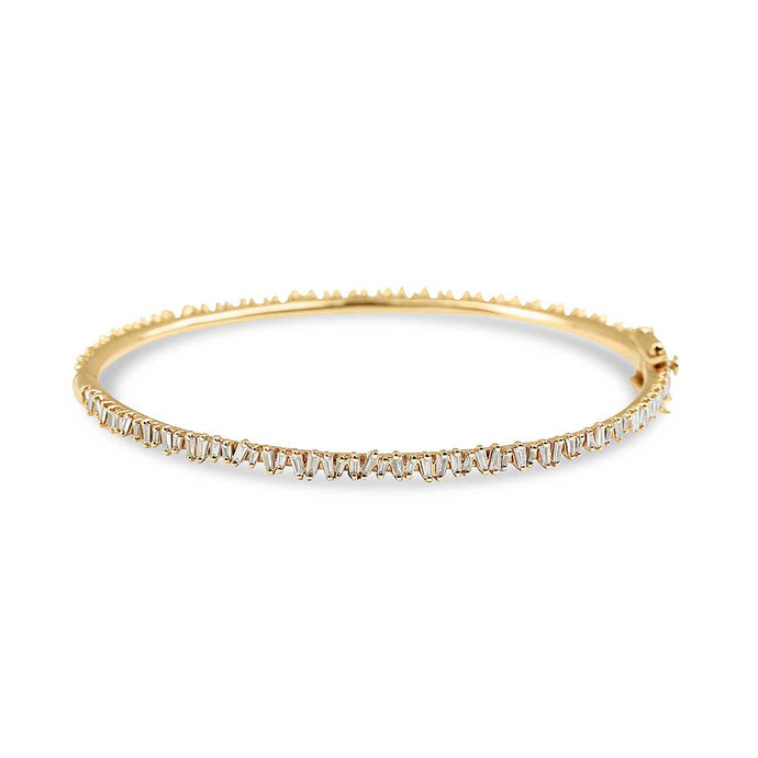 PICKET BANGLE WITH BAGUETTE DIAMONDS