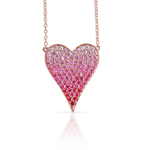 LARGE OMBRE HEART NECKLACE
