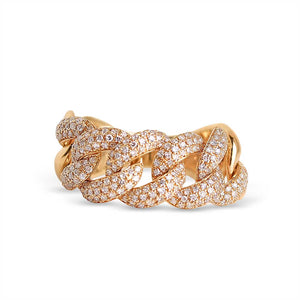 CHUNKY DIAMOND CHAIN LINK RING