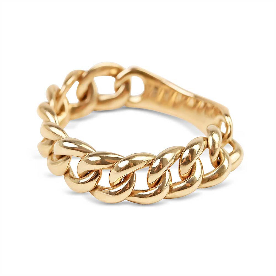 Fine Solid Gold Chain Link Ring